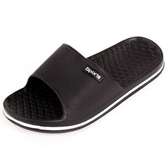 buy online 199c2 81897 Cammie Men s Slip On Sport Black Slide Sandals 8 D(M) US  Men s slip on  sport sandals.