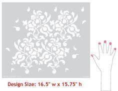 Floral Allover Pattern Stencil