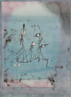 Paul Klee, Twittering Machine (Die Zwitscher-Maschine) on ArtStack #paul-klee #art