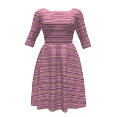#Gingezel Pink, Gold, Gray #Tribal Stripe design on Colette Patterns Moneta Dress. The colors are inspired by soft pink tulips touched with gold. The mood is tribal, romantic. From the Gingezel Inspired by Spring Collection. #cutandsew #sproutpatterns #pinkdress #sewinginpiration #fashioninspiration #fashion