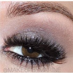 """Love this soft smokey eye by ✨@MakeupbyMarine✨ paired with our Xtreme lashes LASHES:: #FlutterLashes in """"MILEY"""" BROWS:: @AnastasiaBeverlyHills brow wiz med ash for soft natural brow EYES:: #lorac #PROpallett, #girlactic glitter, #bobbibrown gel liner ✨Visit us at www.FlutterLashes.com✨"""