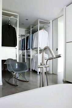 A well thought dressing storage  Walkin storage by Piero Lissoni for Porro