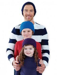Yarnspirations.com - Caron Family Beanie - Free Pattern - Crochet - Beginner  | Yarnspirations