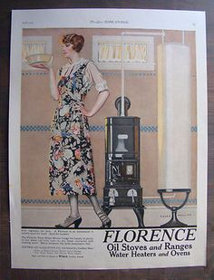 1923 Florence Oil Stoves and Ranges ad - illustrated by Coles Phillips.  (in my collection, too)