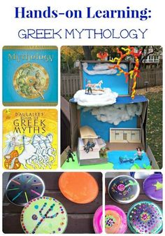 Have kids who are fans of Percy Jackson & the Greek gods?  See how we've made this ancient world a hands-on experience with crafts & fun learning ideas!