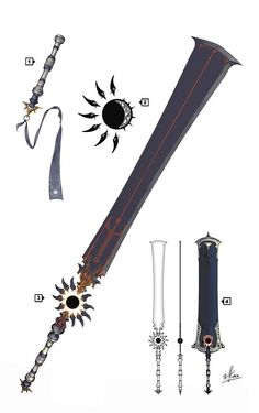 Patreon-supported concept art for a fanfic character's personal weapon of choice.