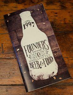 Menu Design | Founders Brewing Company - Grand Rapids, Michigan  - menu design by Scott Schermer.