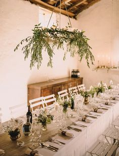 Pink Peony and Orchid Wedding Decor Brides: Greenery Chandelier of Olive Branches. Hanging Wedding Decorations, Reception Decorations, Wedding Centerpieces, Wedding Table, Wedding Reception, Rustic Wedding, Wedding Shoes, Trendy Wedding, Wedding Trends