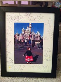 Use a photo picture frame mat for autographs at Disneyland or Disneyworld instead of a traditional autograph book so you can display  them when you get home