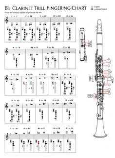 Clean Advanced Clarinet Fingering Chart B Flat Clarinet Scales Finger Chart Band Instrument Fingering Chart Soprano Saxaphone Finger Chart Saxophone Soprano, Saxophone Sheet Music, Bass Clarinet, Piano Sheet Music, Music Sheets, Oboe, Bassoon, Saxophone Fingering Chart, Music Chords