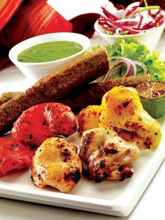 Let's see how big foodie you are. Can you name all Non-Vegetarian items in this image?