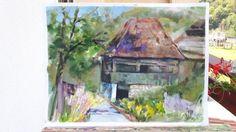 House in Apuseni(sketch) Art Prints, Original Paintings, Sculptures, Artfinder, Wall Art, Painting, Art, Independent Artist, Original Artwork