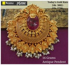 Gold Mangalsutra Designs, Gold Earrings Designs, Gold Jewellery Design, Gold Jhumka Earrings, Gold Necklace, Pendant Jewelry, Beaded Jewelry, Antique Gold Rings, Gold Pendants