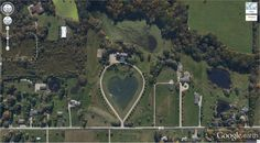 13. Szív alakú tó 41.303921, -81.901693 Columbia Station, Ohio, USA