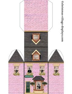 Pin by Billie Jean Brown on Paper houses Christmas Village Display, Christmas Village Houses, Putz Houses, Christmas Villages, Paper Doll House, Paper Houses, Diy Paper, Paper Art, Paper Crafts