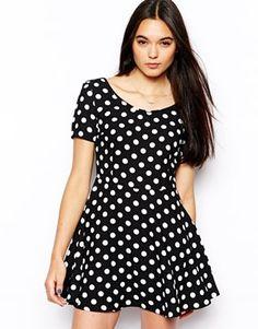 ASOSGlamorous Polka Dot Skater Dress