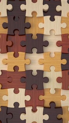 Wood Puzzle Pieces  Wallpaper