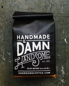 Gorgeous typographic packaging for coffee. Via Joel Flory.