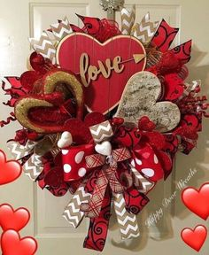 90 Easy Dollar Store DIY Valentine& Day Wreath Ideas That Say Your Front Door Romantic Verses . - 90 Easy Dollar Store DIY Valentine& Day Wreath Ideas That Make Your Front Door Speak Romantic - Diy Valentines Day Wreath, Valentines Day Decorations, Valentine Day Crafts, Printable Valentine, Homemade Valentines, Valentine Box, Valentines Day Hearts, Valentine Ideas, Diy Wreath