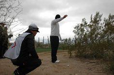 Jason Day placing his ball at the 2013 Accenture Match Play Championship in Marana, AZ