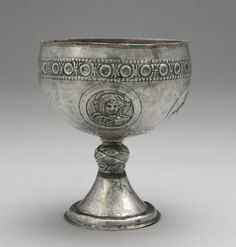 Chalice from the Beth Misona Treasure, c. early Byzantium, Constantinople or Syria, Byzantine period, Centur Cleveland Museum Of Art, Altar, Byzantine Art, Ancient Jewelry, Medieval Art, Kirchen, Roman Empire, Types Of Art, Metal Working