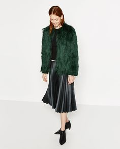 SHORT FAUX FUR JACKET-View all-OUTERWEAR-WOMAN | ZARA United States