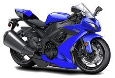 Kawasaki Ninja Blue Motorcycle Digital Art by Maddmax