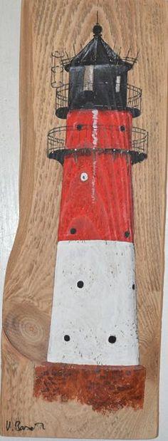 Leuchtturm von Büsum,Acrylbild,Palettenholz von PalettesBilderShop auf Etsy