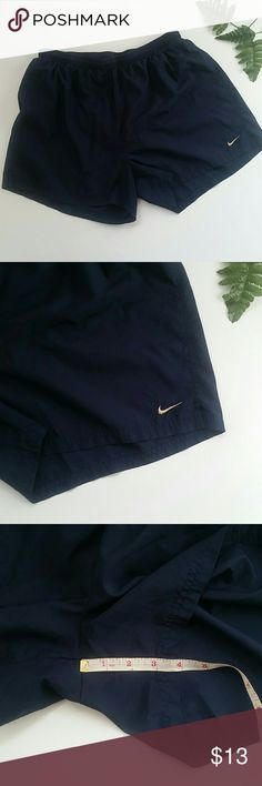 NIKE RUNNING SHORT In used conditions.  Nike running shorts. Navy blue.  Lining.  Size XL. Adjustable waistband. Dri-fit . No size tag but I measured it with my other XL nike shorts I have in my closet and they are exactly the same size. Nike Shorts