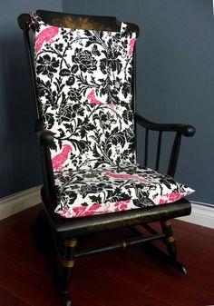 I Think I Could Totally Make This... Rocking Chair Cushion Pretty Pink Black