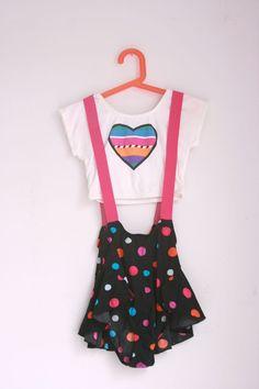 Vintage girls dance costume eighties size 7/8 by fuzzymama on Etsy