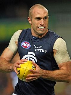 CHRIS JUDD - 279 GAMES - CARLTON / WEST COAST FOOTBALL CLUBS Carlton Afl, Carlton Football Club, Kelly's Heroes, Australian Football League, Soccer Ball, Sexy Men, Athlete, Blues, Sports