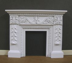 Dollhouse Fireplace ~ Handcrafted ~ Jim Coates ~ Furniture ~ Room Box ~ 1:12 scale ~ Original Art  Work ~ Not A Copy