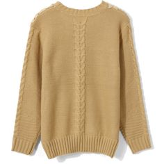 Crochet Floral Light Tan Sweater ($48) ❤ liked on Polyvore featuring tops, sweaters, macrame top, floral print sweater, dot top, brown top and floral print tops