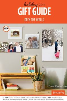 Canvas or wood. Frame or no frame. So many ways to turn photos into gorgeous gifts.