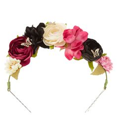 Butterfly Enchantment Rose Garland Decorative Bobby Pins Hair Swag