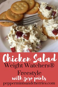 Weight Watchers® Freestyle Chicken Salad with Zero Points www.peppermintsan… Weight Watchers® Freestyle Chicken Salad with Zero Points www. Weight Watchers Snacks, Weight Watcher Dinners, Poulet Weight Watchers, Plats Weight Watchers, Weight Watchers Smart Points, Weight Loss, Weight Watchers Sides, Weigh Watchers, Gourmet