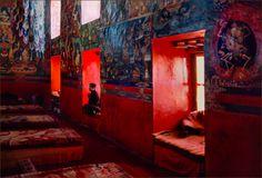 Tibetan monks meditating