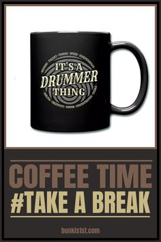 It´s a drummer thing - Drummer Mug Girl Drummer, Drummer Gifts, Coffee Time, Boyfriend Gifts, Drums, Cocoa, Container, Make It Yourself, Tableware