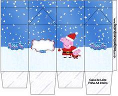 Peppa Pig en Navidad: Cajas para Imprimir Gratis.   Ideas y material gratis para fiestas y celebraciones Oh My Fiesta!