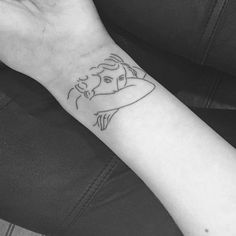 Henri Matisse inspired tattoo on the left wrist. Tattoo artist:...