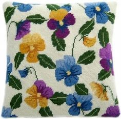 Pansy Garden Herb Pillow from Cleopatra's Needle £34.73 - Past Impressions
