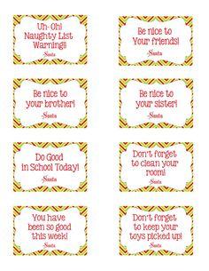 Your Elf on the Shelf Notes- Set of 8 notes- PDF Elf on the shelf Printable-Christmas Printable- Elf Printable by bobbijil Christmas And New Year, Winter Christmas, Christmas Holidays, Xmas, Father Christmas, Holiday Crafts, Holiday Fun, Elf Auf Dem Regal, Elf Magic