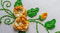 Embroidery Designs   Cast on Flower by hand    HandiWorks #67