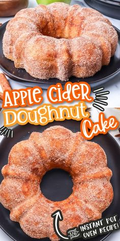 Our Apple Cider Doughnut Cake tastes exactly like an iconic apple cider donut from your favorite apple orchard. This bundt cake is flavorful and moist with an apple cider glaze and cinnamon sugar to top it off. We include the recipe to make it in the oven or make it in the instant pot, either way, this is going to become a must-have Fall dessert. Apple Recipes, Fall Recipes, Baking Recipes, Sweet Recipes, Holiday Recipes, Kitchen Recipes, Vegan Recipes, Köstliche Desserts, Delicious Desserts