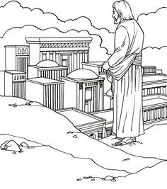 Jesus Temptation Coloring Page