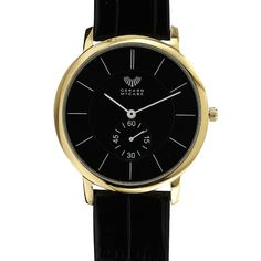 This unisex timepiece has clean cut lines and a simple leather band. The ultra slim face and domed case makes the Classic Slimline extremely comfortable to wear. An excellent and reliable timepiece to get you from A to B. This watch is backed by the Gerard McCabe 3 year warranty.