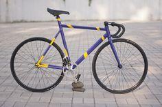 """Mielec """"Violet & Yellow"""" bike"""