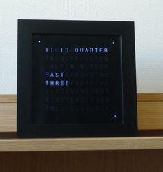 Get nerdy over this #LED wordclock #DIY #project. http://www.1-2-do.com/de/projekt/Wordclock/bauanleitung/4356/