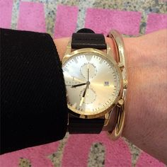 Gold Chrono. Sort of Black. TRIWA watch